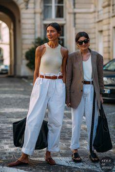 Irina Linovich and Julie Pelipas by STYLEDUMONDE Street Style Fashion
