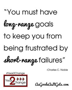 Long Range Goals vs. Short Range Failures #Quote #Year2Change