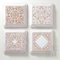 dekory adagio, cantabile, largo, andante z ramą, białe / pracowniazona / Dekoracja Wnętrz / Ceramika