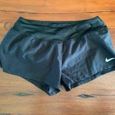 Black Nike Women's dri-fit crew running shorts, size small. Excellent used condition, no tears, rips or stains. Built in liner, drawstring at waist, very light, breathable fabric. Nike Shorts, Running Shorts, Plastic Pants, Black Nikes, Sport Outfits, Nike Women, Casual Shorts, Stains, Fitness