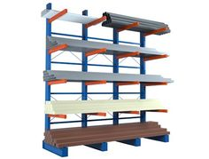 Cantilever Racking ideal for save  building materials, piping, rolls, appliances, and flooring.