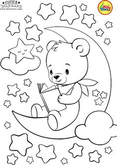 Cuties Coloring Pages for Kids Free Preschool Printables Slatkice bojanke Cute Animal Coloring Books by BonTon TV Free Kindergarten Worksheets Pre. Bear Coloring Pages, Coloring Sheets For Kids, Disney Coloring Pages, Free Coloring, Coloring Pages For Kids, Coloring Books, Art Drawings For Kids, Easy Drawings, Drawing For Kids