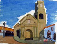 Iglesia San Agustin La Serena - by Greg Mason Burns - #Oil on #Canvas - 30 x 40 cm - www.gregmasonburns.com
