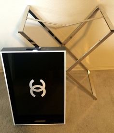 Fabulous Chanel Replica Tray Table, Cocktail Table Serving Tray Butler  Stand $500 The Tray Is