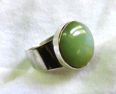 Light green Peruvian Opal set in 950 Sterling silver by Perunz, $44.00