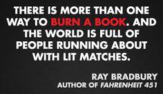 Ray Bradbury, author of FAHRENHEIT 451 #bannedbooksweek