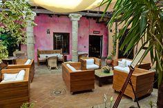 Salón principal de la Posada Casa del Abad de Ampudia hotel spa #hotelesconencanto #hotelesenpalencia #bucolichoteles