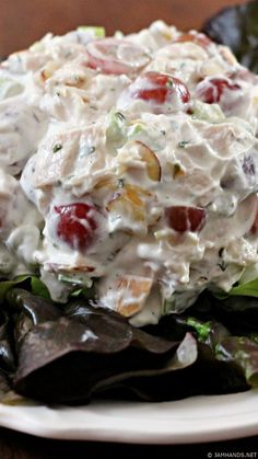 This tasty Neiman Marcus Chicken Salad has a secret ingredient that gives the texture of the salad a wonderfully creamy texture. What is ...