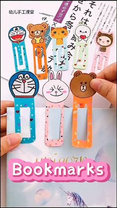 Diy Crafts Hacks, Diy Crafts For Gifts, Diy Home Crafts, Fun Crafts, Kawaii Crafts, Book Crafts, Creative Crafts, Creative Bookmarks, Bookmarks Kids