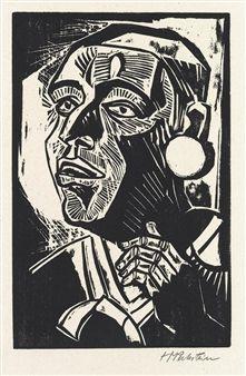 Max Pechstein (1881-1955) was een Duits kunstschilder. Pechstein wordt gezien als een belangrijk vertegenwoordiger van het expressionisme. In 1902 werd hij lid van de later beroemd geworden kunstenaarsgroep Die Brücke.In die tijd bezocht hij vaak samen met Heckel en Kirchner de omgeving nabij Dresden. Net als Schmidt-Rottluff en Nolde werden zij er geconfronteerd met het eenvoudige plattelandsleven, dat sterk hun kleurenpalet beïnvloedde.