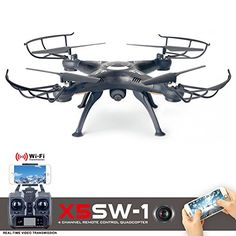 Cszlove Wifi FPV UAV 24Ghz 4CH 6Axis Gyro RC Drone Headless Quadcopter with 2MP HD Camera LIVE Video RTF  Black ** Check out the image by visiting the link.