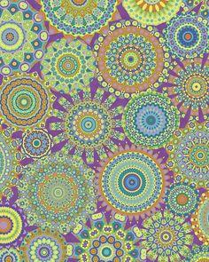 Millefiori-Jardin colorway, by Groovity, Art Print designed by Mary Tanana.