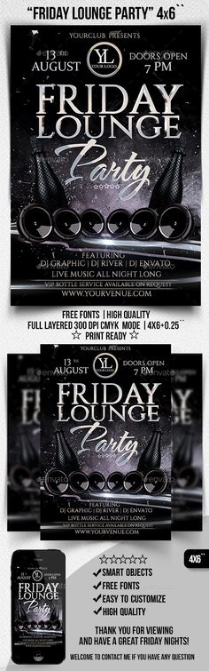 Black And White Party Flyer | Party Flyer, Flyer Template And Black