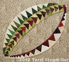 Terri Stegmiller Art Quilts: Flying Geese on a Curve Paper Piecing Patterns, Quilt Block Patterns, Quilt Blocks, Quilting Tutorials, Quilting Projects, Quilting Designs, Flying Geese Quilt, Foundation Paper Piecing, Machine Quilting