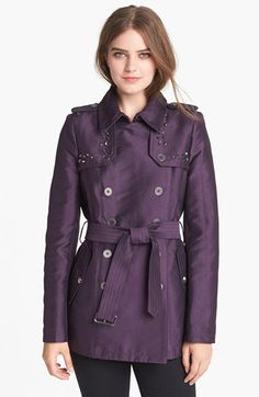 Sam Edelman Studded Double Breasted Trench Coat