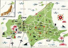 Map of Hokkaido by Calsidyrose, via Flickr