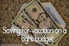 Saving for vacation on a tight budget.this is really awesome for the budgets that are already super tight! Some great, creative ways to save! Vacation Savings, Savings Plan, Vacation Trips, Vacations, Money Tips, Money Saving Tips, Wanderlust, All I Ever Wanted, Budgeting Money
