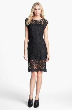 Line & Dot Lace Sheath Dress available at #Nordstrom, I found mine in a copper color. It is quite fitted, but if you want something to show your shape, this is it