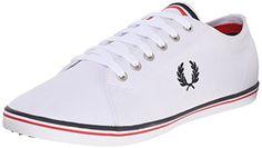 Fred Perry Kingston Twill White B6259U100, Herren Sneaker - EU 40 - http://on-line-kaufen.de/fred-perry/40-eu-fred-perry-kingston-twill-white-b6259u100