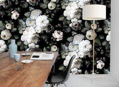 dark floral wallpaper by ellie cashman brings the drama | chicago tribune