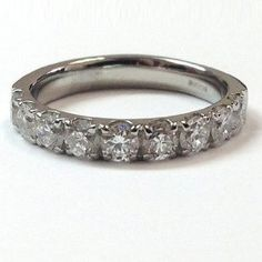 E-F/I 0.36 Carat EGL Certified Round Diamond Half Eternity Ring,18k White Gold Size O - http://www.wonderfulworldofjewelry.com/jewelry/efi-036-carat-egl-certified-round-diamond-half-eternity-ring18k-white-gold-size-o-couk/ - Your First Choice for Jewelry and Jewellery Accessories