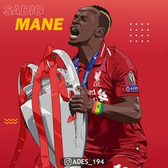 Sadio Mane with the UCL trophy Liverpool Anfield, Liverpool Players, Liverpool Football Club, Best Football Players, Football Art, Soccer Players, Sadio Mane, Liverpool Wallpapers, Soccer Guys