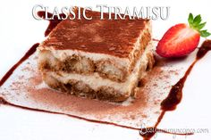Classic Tiramisu Recipe Desserts with brewed coffee, amaretto liqueur, egg yolks, whipping cream, sugar, mascarpone, biscuits, unsweetened cocoa powder, bittersweet chocolate