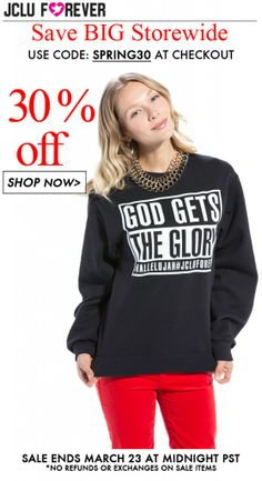 Sale Christian T-Shirts and Apparel from JCLU Forever