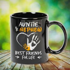 Auntie and Nephew Best Friends for Life Great t-shirts, mugs, bags, hoodie, sweatshirt, sleeve tee gift for aunt, auntie from niece, nephew or any girls, boys, children, friends, men, women on birthday, mother's day, father's day, Christmas or any anniversaries, holidays, occasions. Grandma Mug, Grandmother Quotes, Dad Mug, Uncle Quotes, Father Daughter Quotes, Quotes Quotes, 2015 Quotes, Cousin Quotes, Baby Quotes