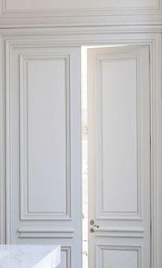 High ceiling and classical doors, Private Apartment in St Germain Des Prés, Paris by Joseph Dirand _