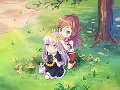 Lisa & Yukina All Anime, Anime Chibi, Friend Anime, I Love Games, Cute Disney Wallpaper, Girl Bands, Anime Art Girl, Anime Style, Aesthetic Anime