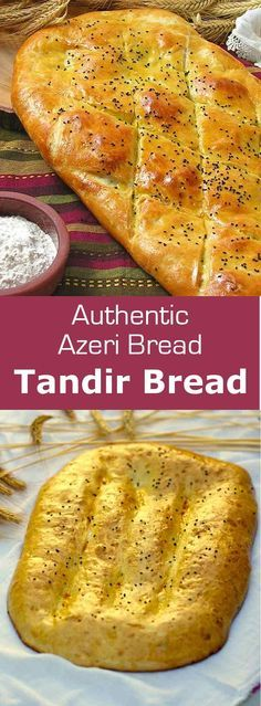 Tandir bread is an Azeri bread that is traditionally baked in a clay oven after being brushed with egg or yogurt. #azerbaijan #bread #196flavors