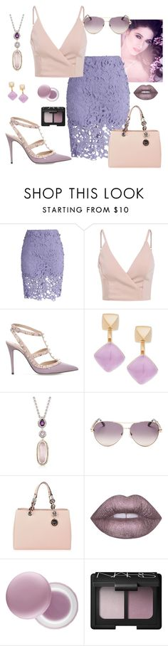 """""""~Pink and lavendar~"""" by bubblegum59 ❤ liked on Polyvore featuring Chicwish, Valentino, Michael Kors, Andréa Candela, Roberto Cavalli, MICHAEL Michael Kors, It's skin and NARS Cosmetics"""