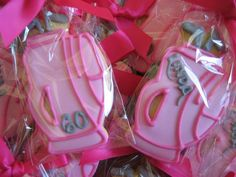 golf bags Golf Cookies, No Bake Cookies, Cookie Flavors, Golf Attire, Golf Gifts, Play Golf, Ladies Golf, Decorated Cookies, Golf Bags