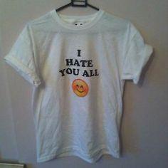 I Hate You All Emoji T Shirt - Nasty Gal O Mighty American Apparel ...