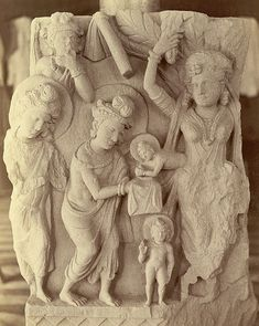 Photograph of a Buddhist sculpture showing the birth of Buddha, from Lorian Tangai, taken by Alexander Caddy in Buddhist Architecture, Art And Architecture, Buddha India, Pakistan Art, Buddha Life, India Art, Mystery Of History, Unusual Art, Religion