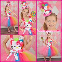 Hello Kitty Inspired Party Girl Tutu Dress