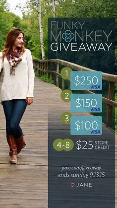 I entered the @veryjane #Giveaway for a chance to win a $500 worth of Visa Gift Cards!