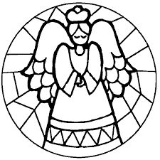 stained glass christmas coloring pages - Google Search