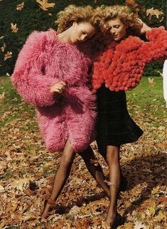 Fur coats in Vogue