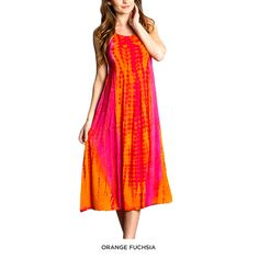 100% Cotton Long Summer Tie-Dye Dress - Assorted Colors at 71% Savings off Retail! $20.00