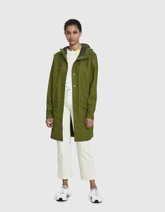 c12cb9df95 Long Rain Jacket in Sage Long Jackets, Rain Jackets, Jackets For Women,  Pocket