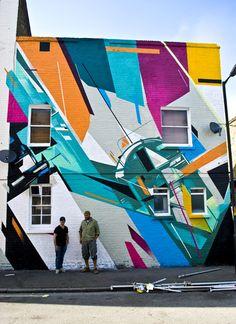 Augustine Kofie and Remi Rough. Street art at its finest. Murals Street Art, 3d Street Art, Street Art Graffiti, Mural Painting, Mural Art, Wall Art, Wall Mural, Tachisme, Art Deco