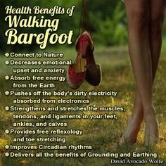 Grounding is so important. ..look it up if you haven't heard the concept when applied to health,  you'd be surprised