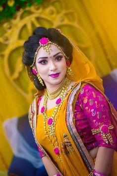 My eva fav. Bridal Mehndi Dresses, Bridal Wedding Dresses, Wedding Bride, Haldi Ceremony, Bride Flowers, Flower Jewelry, Bridal Photography, Indian Designer Wear, Bridal Looks