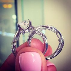 Verragio Diamond Engagement Ring and Wedding Band this is the far reach one! but this one is amazing!!!