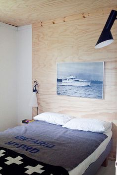 bordering on too much plywood but i like it used behind the bed