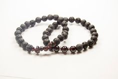 First Chakra - 1st Chakra - Root - Muladhara - Root - Courge - Survival - Garnet & Lava bracelet - Essential Oil diffuser by GemsdeVine on Etsy