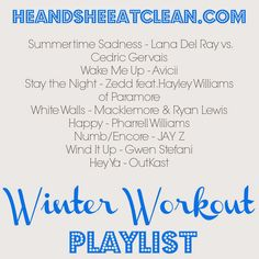 Winter Workout Playlist | He and She Eat Clean