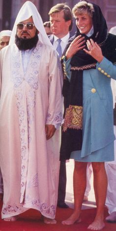 September 25, 1991: Princess Diana during her first solo trip to Lahore, Pakistan.